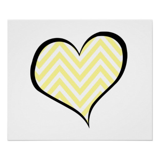 Coração, ziguezague (Chevron), listras, linhas - a Pôsteres