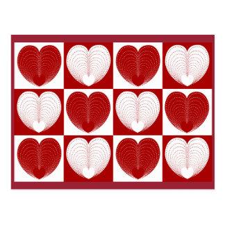 Corações a você cartão postal