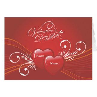 Corações abstratos do feliz dia dos namorados cartão