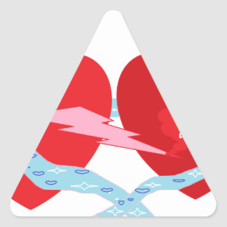 Corações Adesivo Triangular