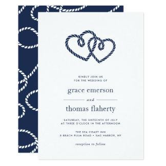 Corações atados que Wedding o convite