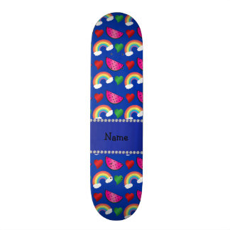 Corações azuis conhecidos feitos sob encomenda dos shape de skate 18,4cm