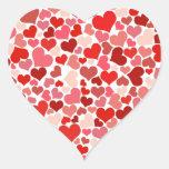 Corações bonitos adesivos de corações