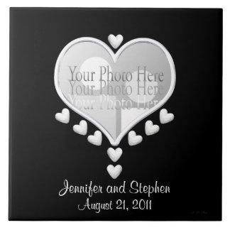 Corações brancos (no casamento preto do quadro da  azulejos