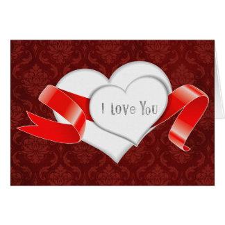 corações brancos vermelhos para o dia dos namorado cartoes