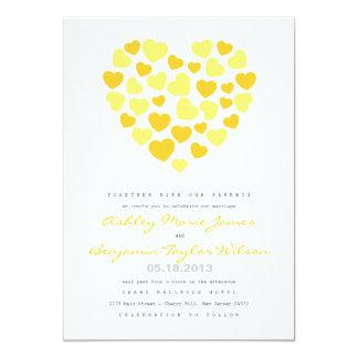 Corações brilhantes que Wedding o convite
