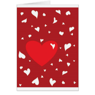 Corações Cartão Comemorativo