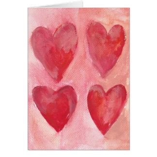 Corações Cartão De Nota