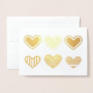 Corações Cartão Metalizado