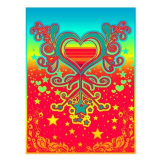 corações cartão postal