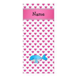 Corações conhecidos personalizados do rosa da bale panfletos informativos