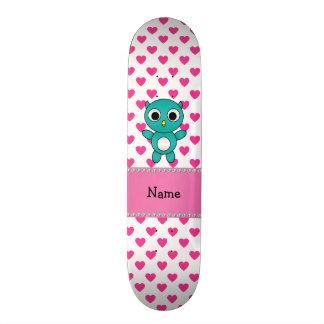 Corações conhecidos personalizados do rosa da coru skate