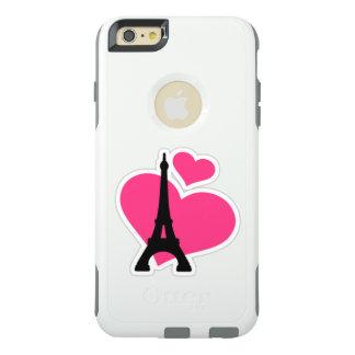 Corações cor-de-rosa bonitos do amor com torre