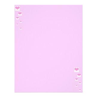 Corações cor-de-rosa modelos de papel de carta