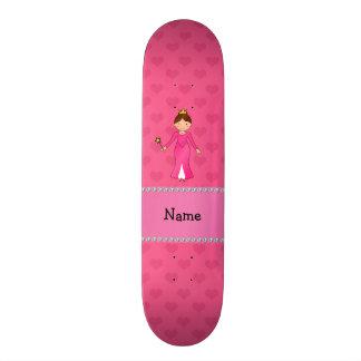 Corações cor-de-rosa personalizados da princesa co shape de skate 18,7cm