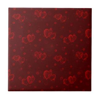 Corações da bolha. Veludo vermelho