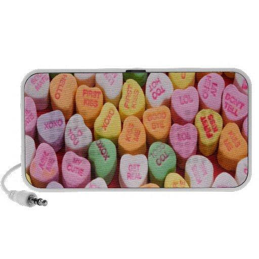 Corações da conversação caixinhas de som para laptop