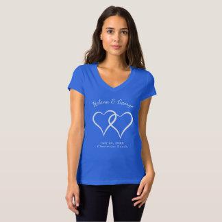 Corações de bloqueio que Wedding o jantar de Camiseta
