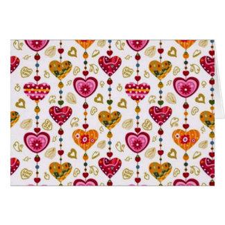 corações de COM do padrão Cartão Comemorativo