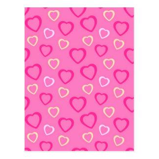 corações de COM do padrão Cartão Postal
