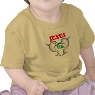Corações de Jesus mim criança Camisetas