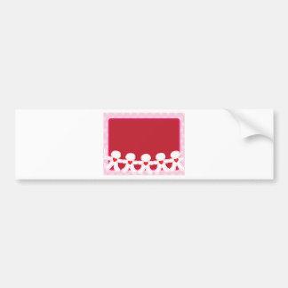 Corações de papel da boneca adesivo para carro