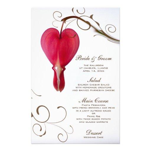 Corações de sangramento vermelhos que Wedding o me Papel Personalizados
