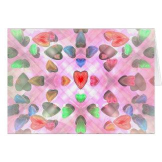Corações de Venusian Cartão Comemorativo