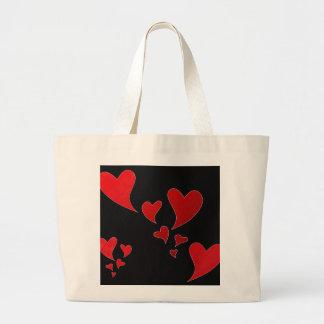 Corações do amor bolsas de lona