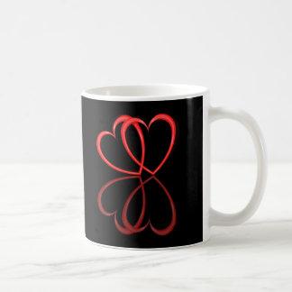 Corações do amor caneca de café