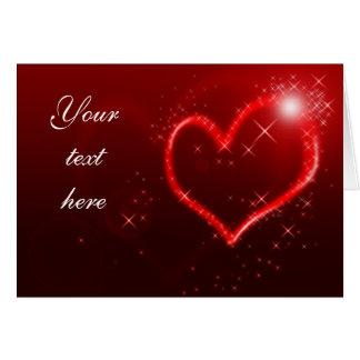 Corações do amor cartão