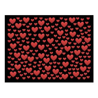 Corações do amor do arco-íris do bombom cartão postal