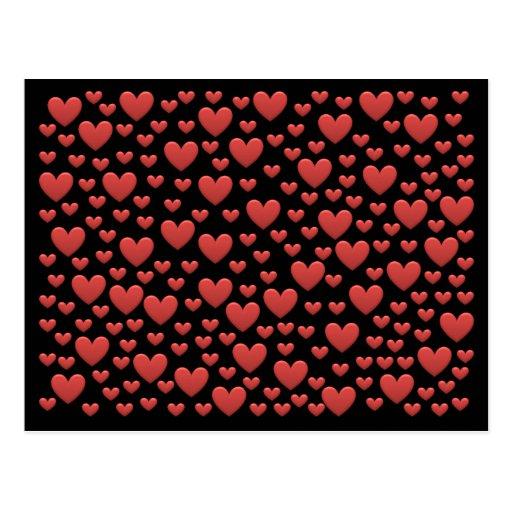 Corações do amor do arco-íris do bombom cartoes postais