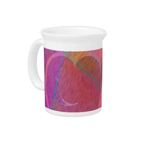 Corações do arco-íris jarros