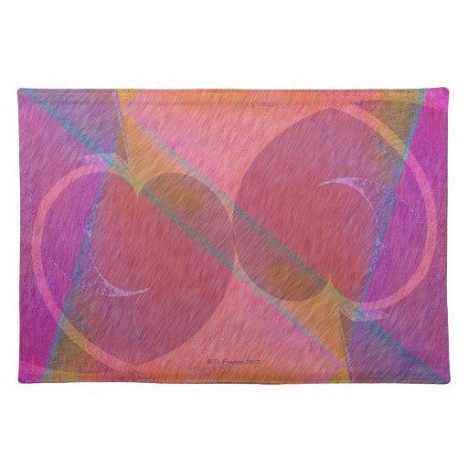 Corações do arco-íris suporte para pratos