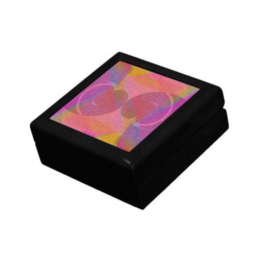 Corações do arco-íris caixa de presente