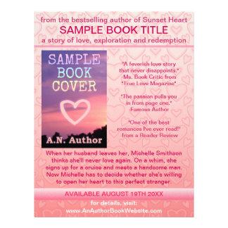 Corações do branco do rosa da promoção do livro do flyer 21.59 x 27.94cm