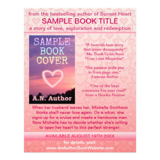 Corações do branco do rosa da promoção do livro do panfletos personalizados
