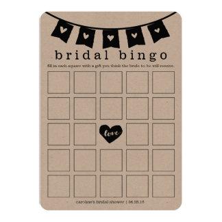 Corações do cartão de jogo | do Bingo do chá de Convite 12.7 X 17.78cm