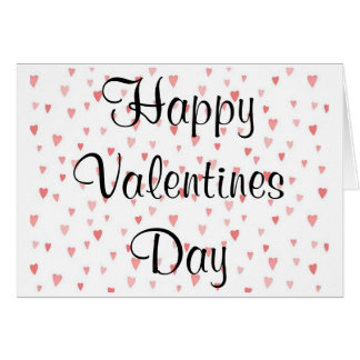 Corações do cartão do dia dos namorados
