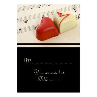 Corações do casamento ajustados cartoes de visita