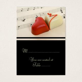 Corações do casamento ajustados cartão de visitas