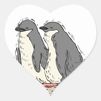 Corações do casamento de Sandy Beach do casal do Adesivo De Coração