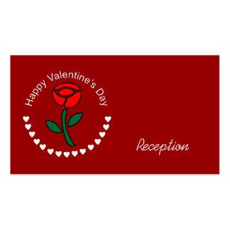 Corações do círculo dos namorados & cartões cor-de modelo de cartões de visita