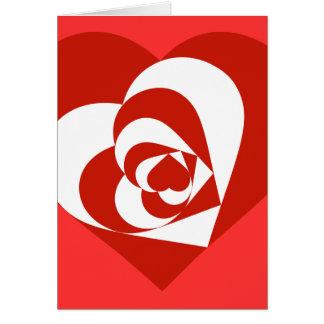 Corações do dia dos namorados cartão comemorativo