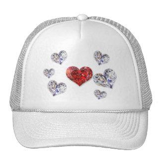 Corações do diamante - chapéu bonés