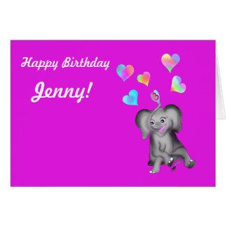 Corações do elefante pelos Feliz Juul Empresa Cartão