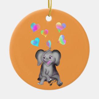 Corações do elefante pelos Feliz Juul Empresa Ornamento De Cerâmica