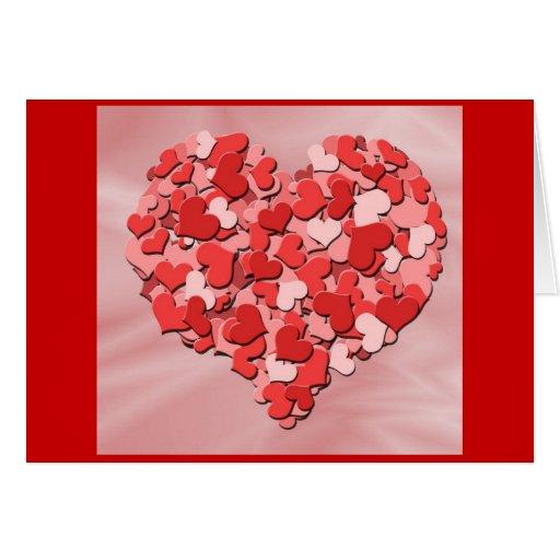 Corações do feliz dia dos namorados cartões
