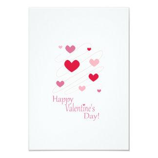 Corações do feliz dia dos namorados convites personalizados